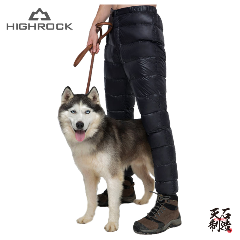 Highrock Men Women Adult Outdoor Camping Hiking Fishing Winter Thermal Warm Ultralight 600FP Duck Down Pants trousers марк бойков 泰坦尼克之复活 возвращение титаника resurrection of titanic isbn 978 5 906916 00 6
