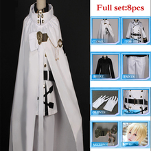 High Quality Anime Seraph Of The End Owari no Seraph Mikaela Hyakuya Cosplay Costume Full Set Uniform Cloak Ball Party Suit Wig anime seraph of the end cosplay yuichiro hyakuya backpack anime cartoon second element middle school student bag female backpack