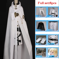 High Quality Anime Seraph Of The End Owari no Seraph Mikaela Hyakuya Cosplay Costume Full Set Uniform Cloak Ball Party Suit Wig