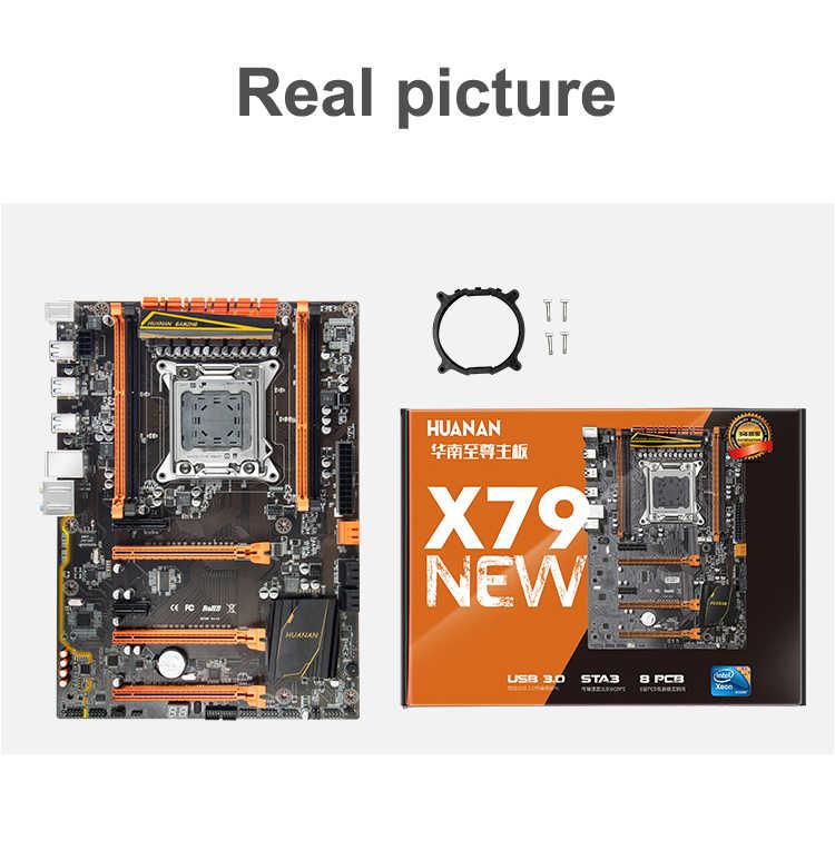 HUANAN cao cấp X79 LGA2011 Bo mạch chủ CPU RAM sản phẩm Bộ Xeon E5 2680 C2 RAM 64G (4*16 g) DDR3 1333MHz RECC với tản nhiệt làm mát CPU