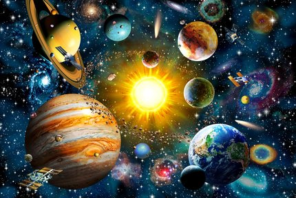 Starry sky solar system The wooden <font><b>puzzle</b></font> <font><b>500</b></font> <font><b>pieces</b></font> ersion paper <font><b>jigsaw</b></font> <font><b>puzzle</b></font> white card adult children's educational toys image