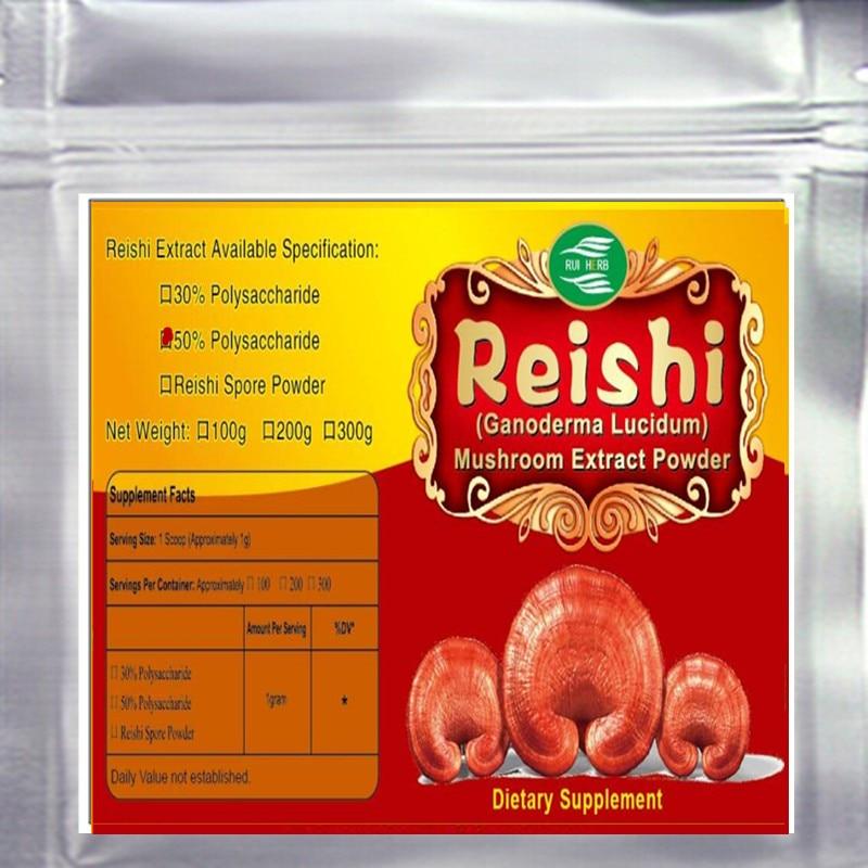 17.6oz (500g) Reishi Extract 50% Polysaccharide Triterpenoids>10% Powder free shipping 500g good price clove extract powder