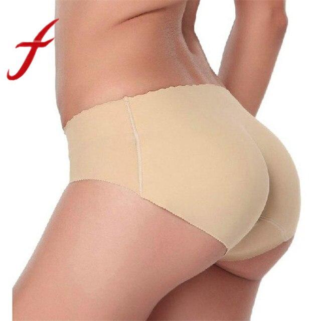 9984cf464 Feitong Sexy Hip Acolchoados Calcinhas Calcinhas buttocks Empurrar Para  Cima Lingerie Sem Costura das Mulheres Roupa