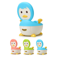 Baby Potty Toilet Training Seat Cartoon Penguin Child Potty Trainer Portable Kids Baby Potty Chair Plastic Children's Pot WC