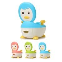 Baby Potty Toilet Training Seat Cartoon Penguin Child Potty Trainer Portable Kids Baby Potty Chair Plastic Children's Pot WC