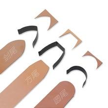 10 stücke DIY leder handwerk gürtel ende flache sharp ende gestanzte form messer Uhr Gürtel Stanzen Hand Werkzeuge geformt cutter 15-40mm
