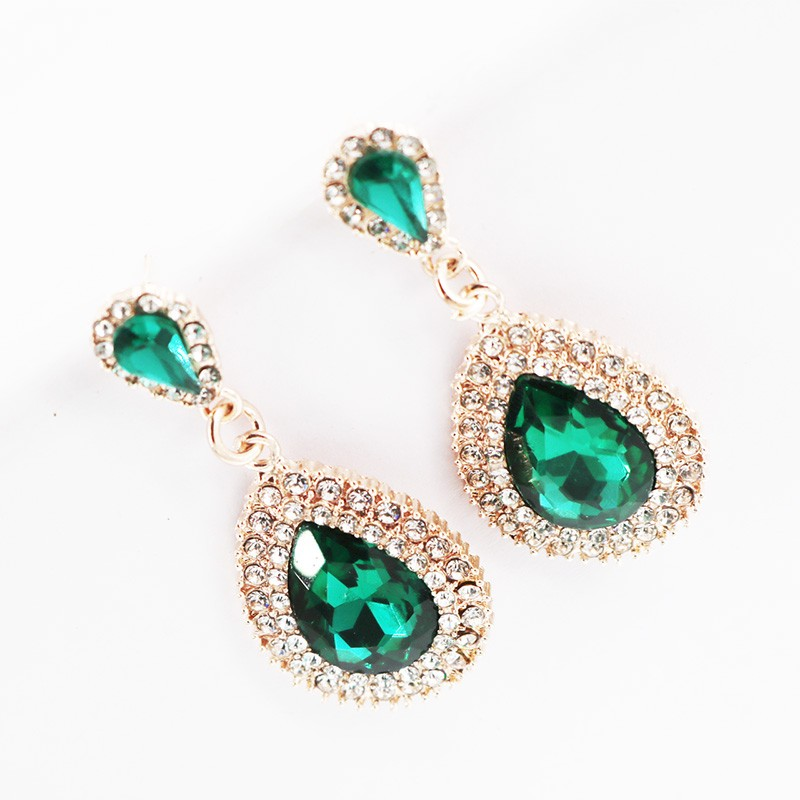 Cute Dangle Jewelry Fashion Elegant Stone Crystal Drop Earrings