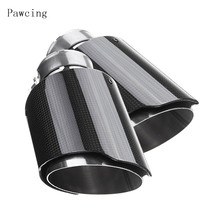 Adapt  Akrapovic Car Exhaust Systems matte Carbon Muffler Tip Tail End Universal Stainless stee Straight Flange Sandblasting for akrapovic car exhaust tail pipes matte carbon muffler tip tail end universal stainless steel straight flange blue for bmw e46