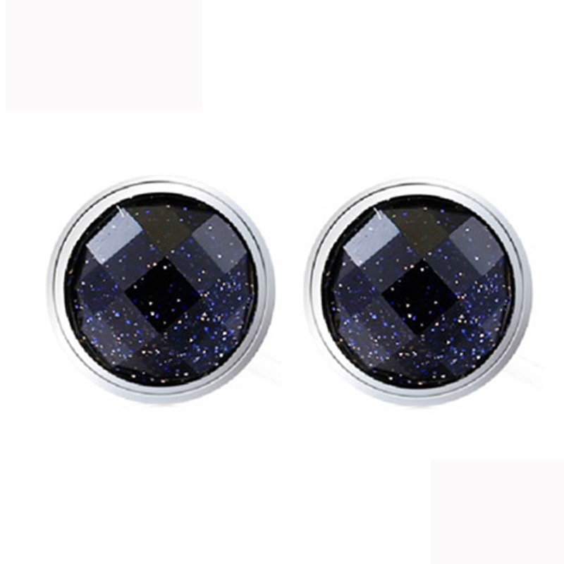 Fine Jewelry 2019 Fashion Licliz Natural Sand Stone Earrings Women 925 Sterling Silver Stud Earrings Women Round Purple Earrings Pierce Studs Girls Le0293 Jewelry & Accessories