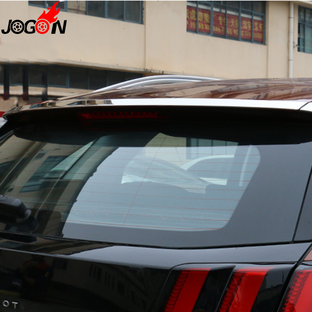 For Peugeot 3008 II 2016 2017 Second Generation Car Rear Back Spoiler Lip Wing Add on