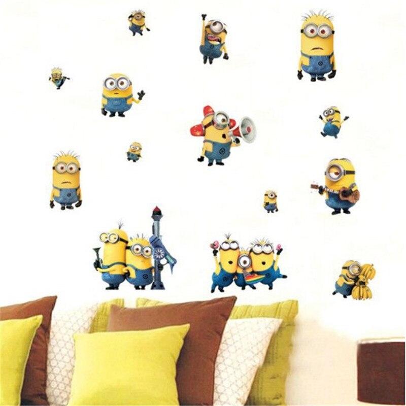 Popular Minion Wall Art DecalBuy Cheap Minion Wall Art Decal Lots - Minion wall decals