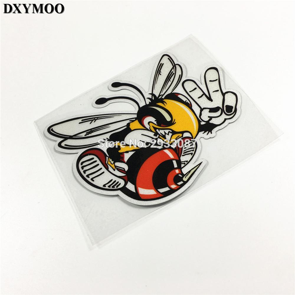1pcs italy bee yeah cute motorcycle helmet laptop vinyl car sticker bumpers