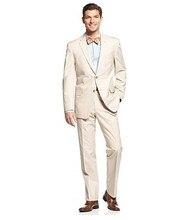 Custom made men's wedding suits two buttons slim groom suits elegant men's feast formal three piece suit (jacket+pants)