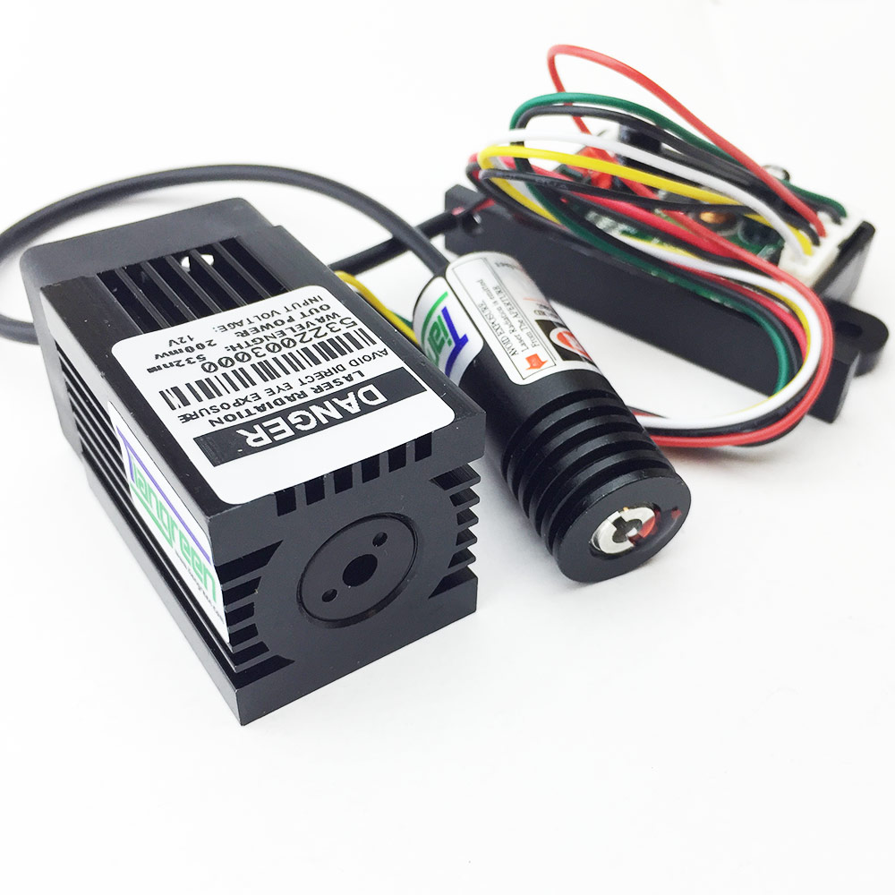 high quality 200mW 532nm Green Laser with 100mW 650nm Red Laser Module include driver board цена
