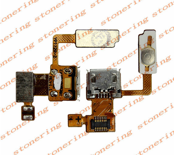 Power Button +USB Connector Charging Port Flex Cable For LG Sprint LS855 Marquee Free shipping with tracking number