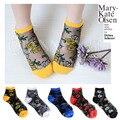 2016 Nueva Manera Del Verano mujeres de Corea del Sur rosa calcetines de Nylon calcetines meias