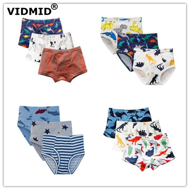 VIDMID Baby Boys Panties Cotton Dinosaur Cars Underwear Boxers Underpants Briefs For Kid Boys Children's Underwear Clothing 7081