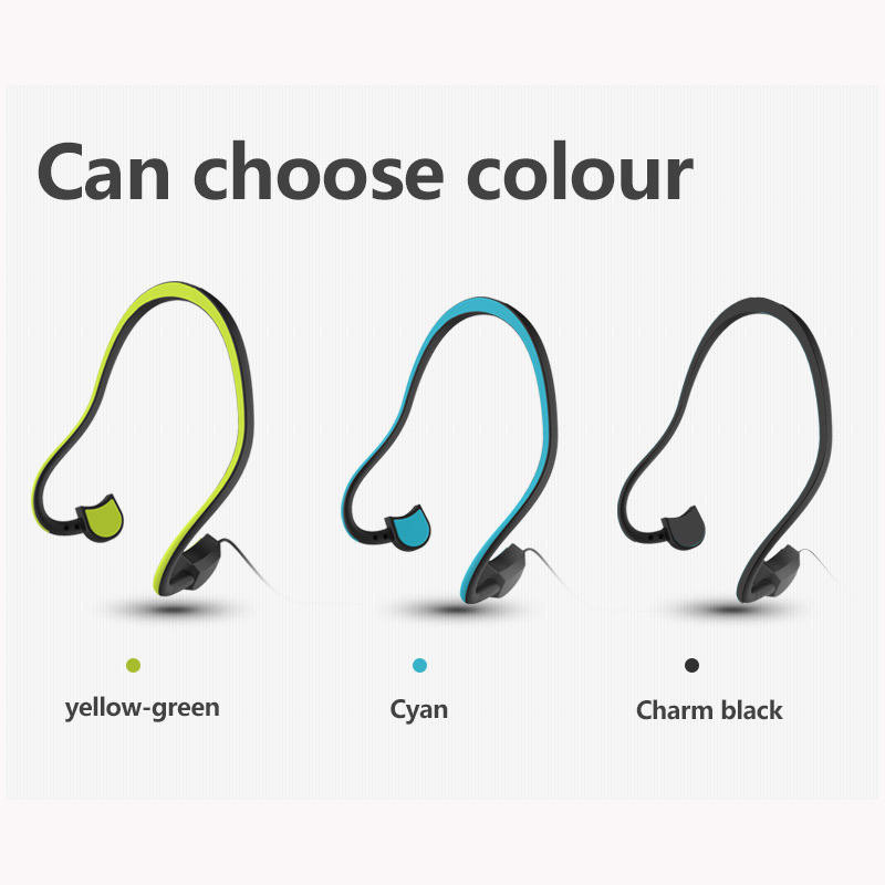 ФОТО 2017 High Quality Bone Conduction Waterproof Stereo Headset Sound Quality Music Headset Handsfree w / Microphone Smartphone