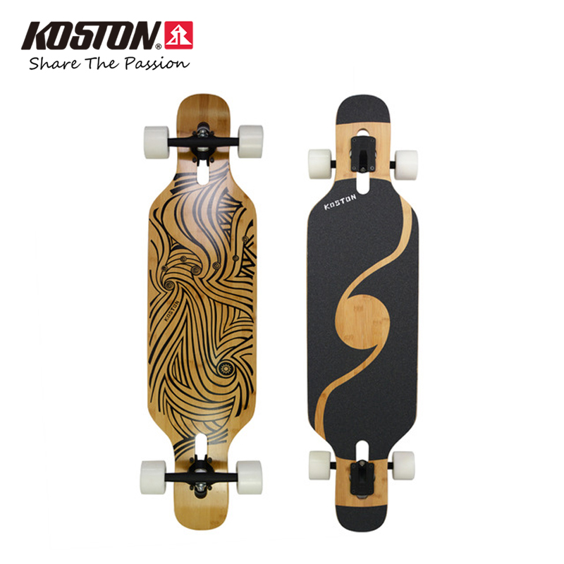 Koston Professional Long Board Completes Tian Jun Walking Dancing 40 Inch Amboo & Canadian Maple Mixed Materials Skateboard Set