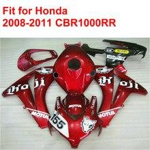 100% Fit Fit For HONDA Injection Mold CBR1000RR Fairings 2008 2009 2010 2011 Red White Black Fairing Kit CBR 1000 RR 08-11 RT10