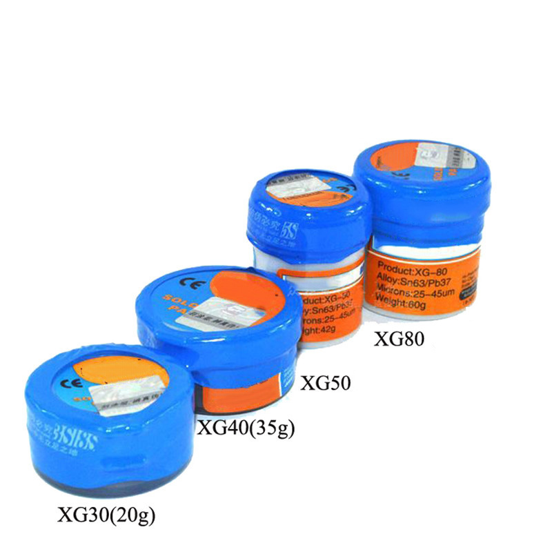 Soldering Paste Flux XG-30/40/50/80 Solder Tin Sn63/Pb67 For Hakko 936/Saike 852D++ TS100 Soldering Iron Circuit Board Repair
