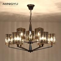 Led Modern Chandelier Lighting Novelty Glass Lustre Lamp Chandelier With Glass Lampshade For Living Room