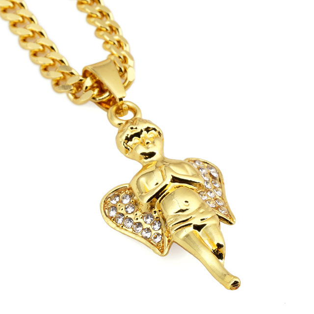 a child charms solid kid gold boy pendant yellow white pendants rose fashion