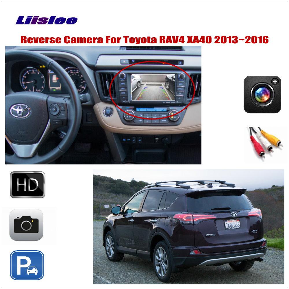 Liislee For Toyota RAV4 RAV 4 XA40 2013~2016 Car Reverse Rear View Camera / Connect Original Factory Screen / RCA Adapter