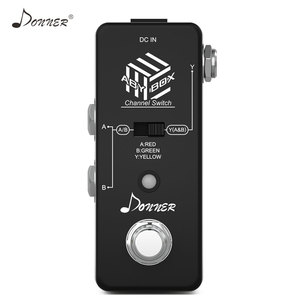 Image 2 - Donner ABY Switcher Box Gitarre Pedal ABY Linie Selector Audio Kanal Swith Kombinieren Effekt Pedal True Bypass Gitarre Zubehör
