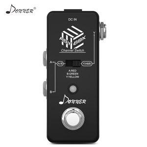 Image 2 - Donner aby switcher caixa pedal de guitarra aby linha seletor canal áudio swith combinar efeito pedal true bypass guitarra acessórios