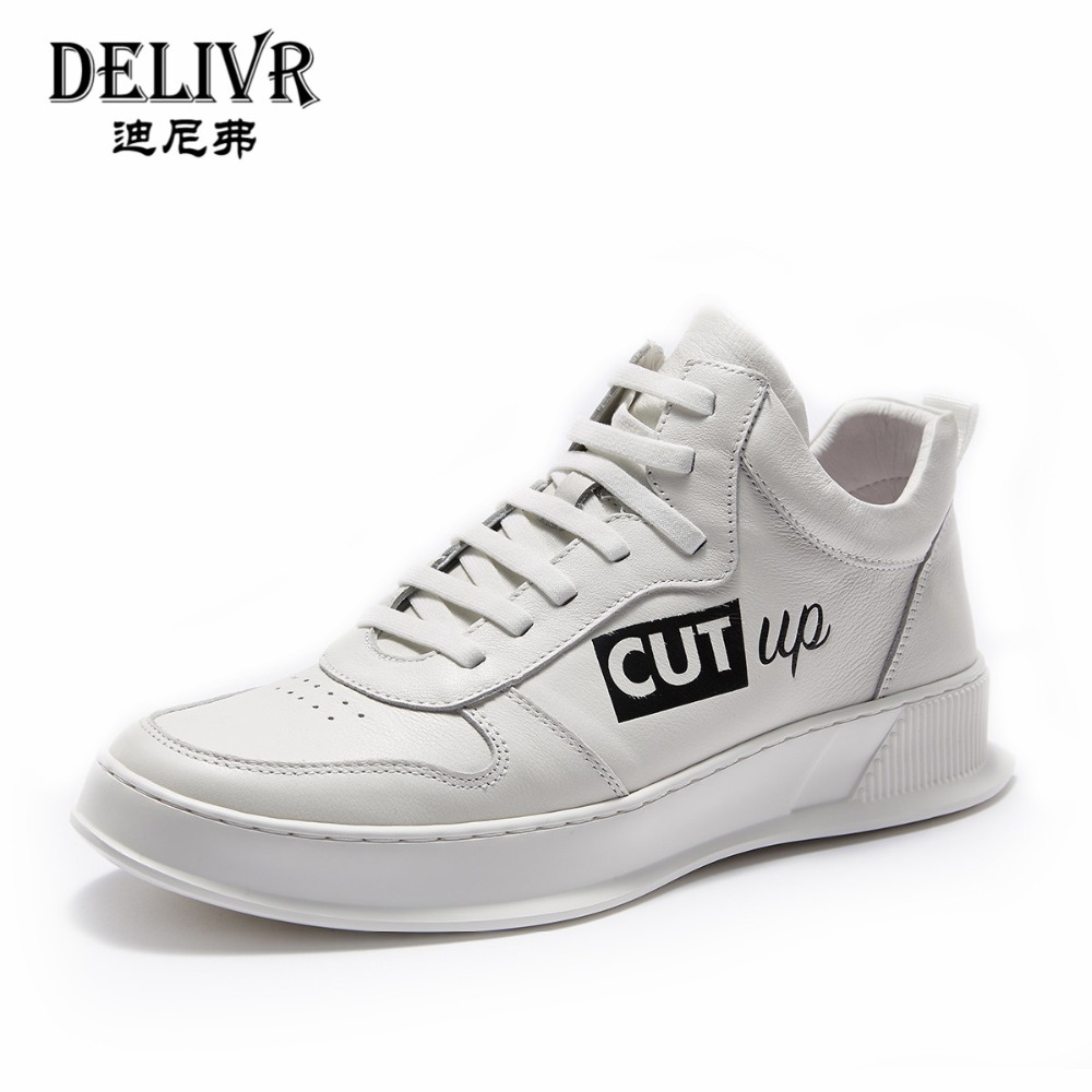 Delivr Men Sneakers Luxury Brand Genuine Leather 2019 New Fashion High Top Sneakers Men Sneakers Mans Shoes Mens Leather ShoesDelivr Men Sneakers Luxury Brand Genuine Leather 2019 New Fashion High Top Sneakers Men Sneakers Mans Shoes Mens Leather Shoes