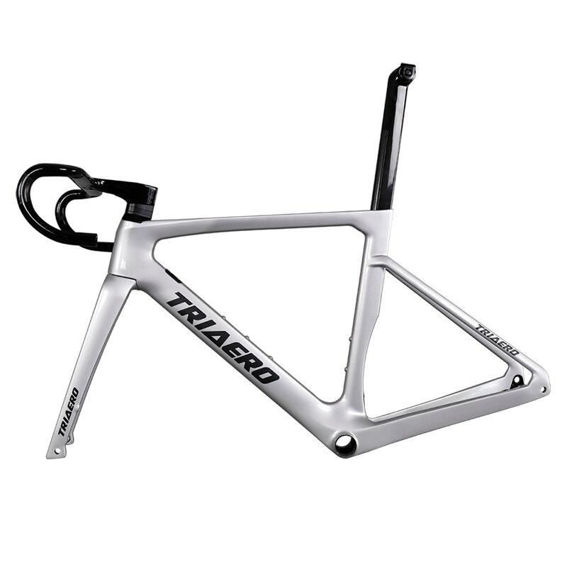 2020 nouveau modèle carbone route vélo cadre frein à disque BB86 vélo cadre avec guidon aero