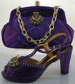 African Latest Italian Shoes With Matching Bag Lovey Italy Shoes And Bag Set,ME0021 Purple color size 38-42
