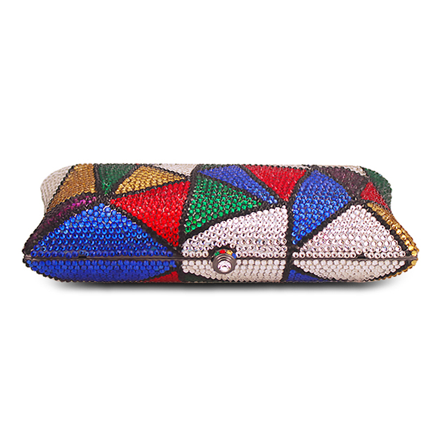 Multi Color Crystal  Luxury Diamond Plain Clutch  3