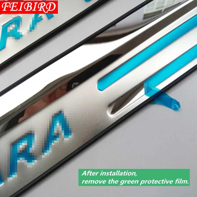 304 нержавеющая сталь для Suzuki Vitara 2015 2016 2017 2018 2019 накладки для порогов автомобиля защитная крышка отделка серебристый красный синий логотип