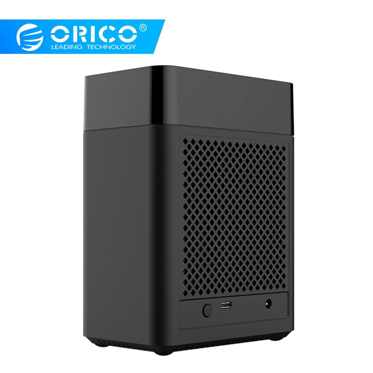 ORICO Double Baie de type Magnétique 3.5 pouces Type-c Boîtier Disque Dur USB3.1 Gen1 5gbps DISQUE DUR Soutien UASP 12V4A Puissance MAX 20 TO