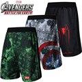 Nuevo Marvel hombres gym shorts Capitán Amerca Hulk Batman cosplay baloncesto deporte shorts secado rápido transpirable gimnasio ropa CS159139