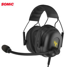 Somic G936 Stereo Gaming Headset 7.1 Virtual Surround Game Earphone Headphone with Mic LED Light for PC Computer Laptop Gamer(China)