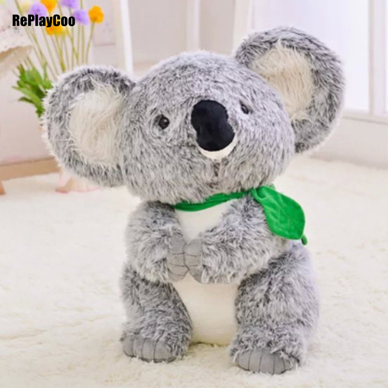45CM New Koala Plush Toys Simulation Doll Soft  Toy Koalas Grey Stuffed Animals Australia's Baby Toys Gifts For Birthday 9 23cm super mario bros grey brick plush toy soft stuffed doll 1pcs pack