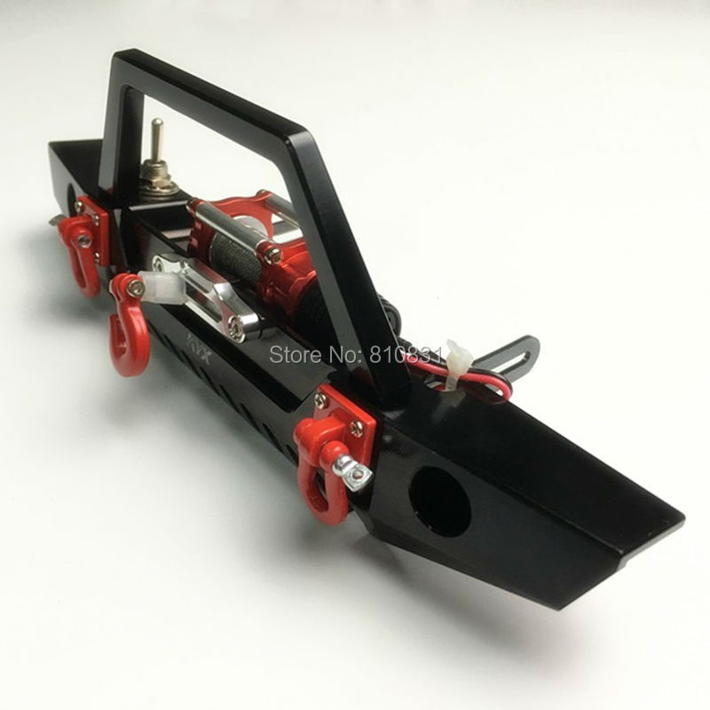 RC Parts Climbing Car Bumper Beam Electric Winch For 1/10 D90 D110 Axial SCX10