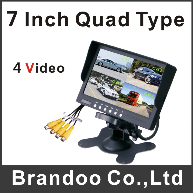 все цены на High quality 7 inch quad type car monitor support 4 channel input онлайн