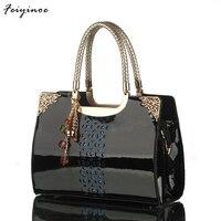 2016 Women The New Brand Handbag Patent Leather Handbag Korea Fashion Single Shoulder Bag
