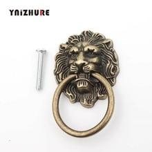1 шт. винтажная голова льва мебельная дверная ручка из цинкового сплава для шкафа комода ручки для ящика