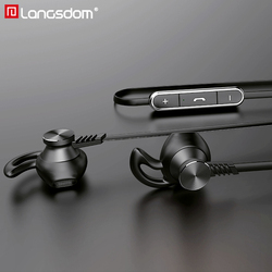 Langsdom L5 audifonos Bluetooth Earphone <font><b>with</b></font> <font><b>Mic</b></font> Half In-ear Wireless Earphones Bluetooth <font><b>Headphone</b></font> for phone Wireless Headset