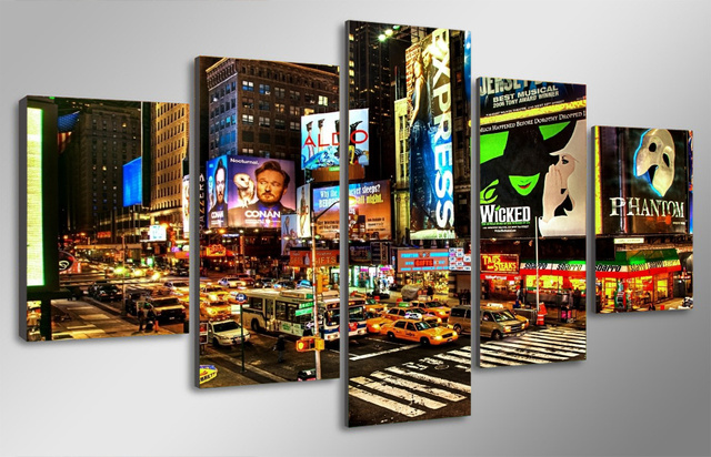 HD Printed New York Times Square Painting On Canvas Room Decoration Print  Poster Picture Canvas Framed