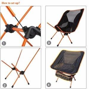 Image 5 - מודרני חיצוני חוף הקמפינג פיקניק דיג כיסאות מקופל כיסאות גן, קמפינג, חוף, נסיעה, משרד כיסאות