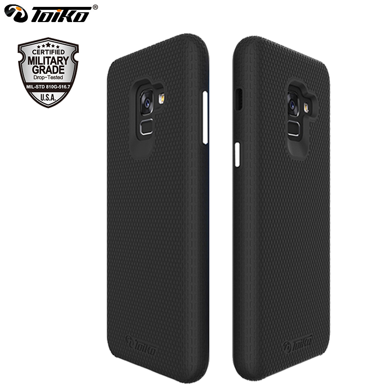TOIKO X Guard Dual Layer <font><b>Case</b></font> for Samsung Galaxy A8 Plus 2018 Cover 2 in 1 Shockproof PC TPU Hybrid <font><b>Phone</b></font> Shell Protective Armor