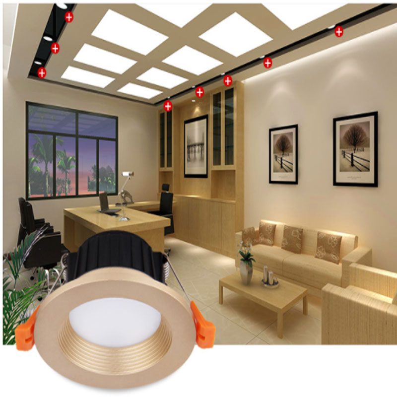 5X Gold Split LED Ceiling Downlight Dimmable 3W 5W 7W 10W 12W Recessed 2.5 inch AC220V Aluminum Lamp Built-in driver Spot light