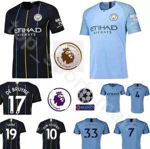 Manchester City Jersey Man 2018 2019 Soccer Football Shirt e14700682aee4