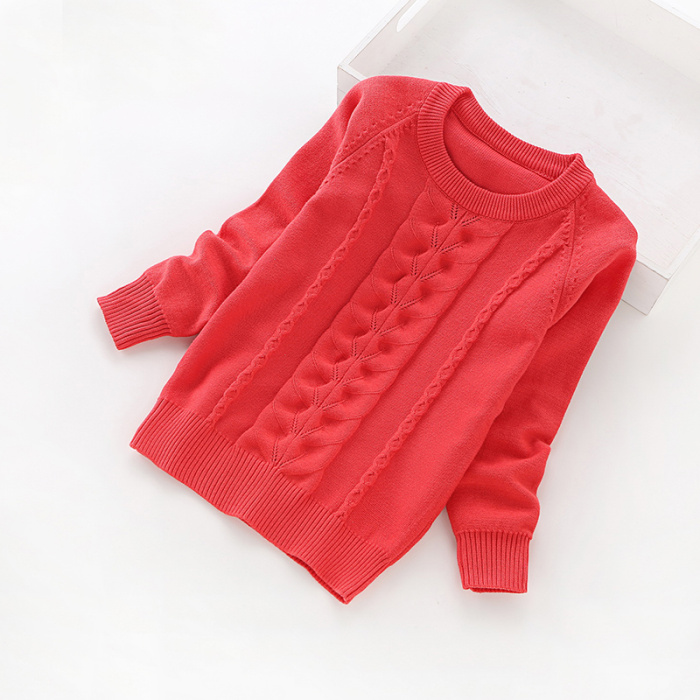 Kids /& Teenager Girls o Neck Basic Knitted Sweaters Children Pullover Sweater